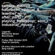Here's a meaty little event coming up in Manchester. Our friends at Analoguetrash are putting on a charming zombie-themed clubnight after Leaether Strip rock Manchester's Academy 3, at Legends on […]