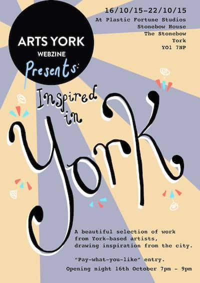 Arts York Inspired in York flyer