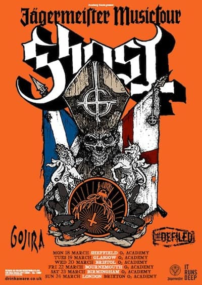Ghost Jager tour poster
