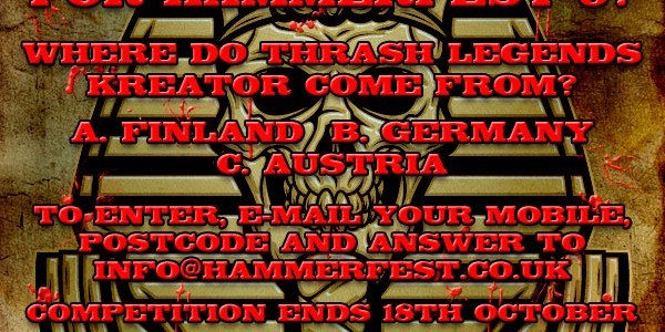 Details below! You could win THE LAST TWO ROOMS for Hammerfest VI!