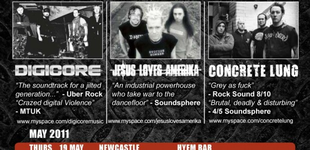 UK alt-label Armalyte Records and Soundsphere magazine are joining forces to co-promote 'The Incineratour' triple-headline tour, featuring three of the UK's most brutal Industrial bands; Concrete Lung, Je$us Loves Amerika and […]