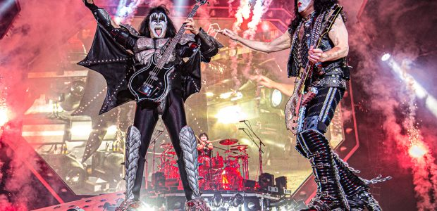 The last of the Crazy Crazy Nights in Manchester as the bombast and panto costume pastiche of KISS bow out after 46 years of glam rock n roll.