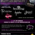 Soundsphere is delighted to announce that we will be sponsoring Femme Metal's Halloween Festival this year. To celebrate the release of the forthcoming compilation CD entitled 'Beauty and Brutality', which […]