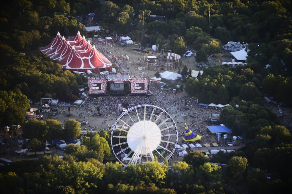 Sziget Festival Aerial