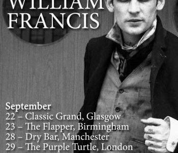 William Francis, frontman of Seattle band Aiden, will be playing some very special dates in the UK this September. The dates are: SEPTEMBER Classic Grand, Glasgow (22) The Flapper, Birmingham […]