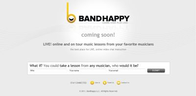 An interactive online music tuition website launching next year has already signed up prominent performers as mentors. The Bandhappy site, which will go live in early 2012, promises its users […]