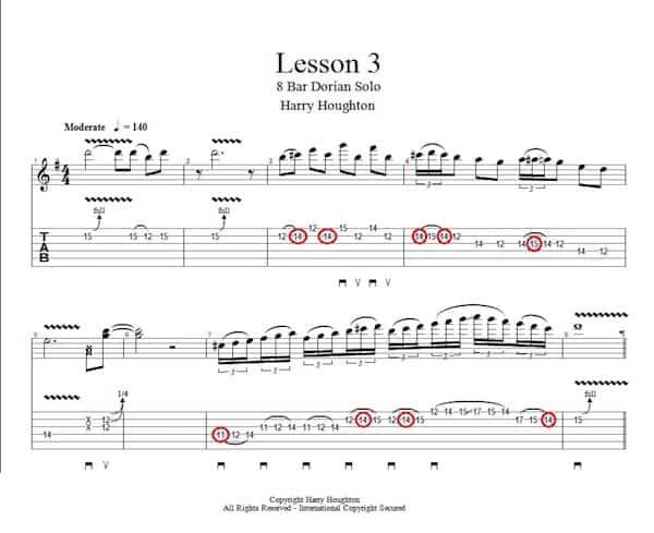 lesson 3 - dorian 8 bar solo image (2)