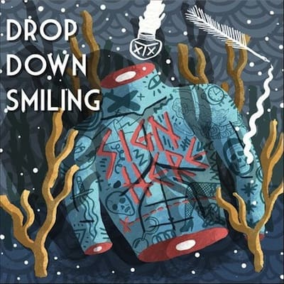 Drop Down Smiling Sign Here
