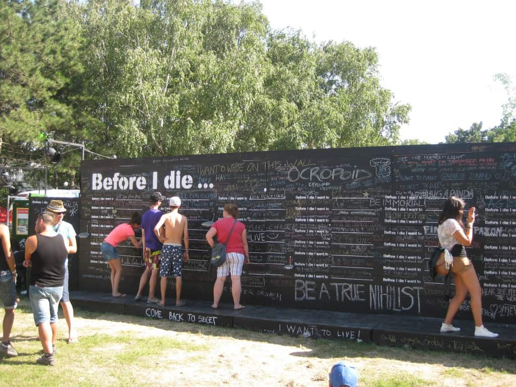 Sziget Festival Before I Die Wall
