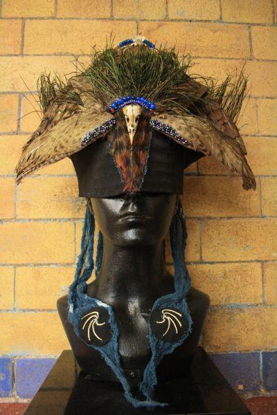 Jenn Nicholson's story teller head-piece
