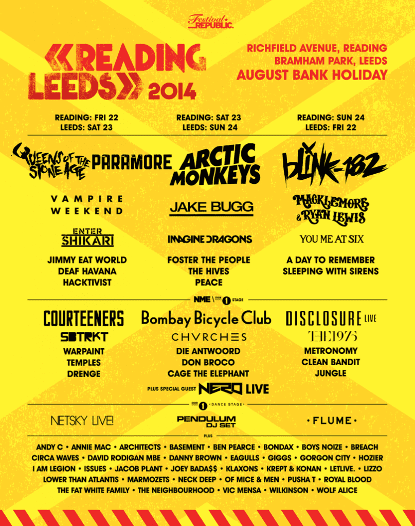 Reading And Leeds Lineup 2014