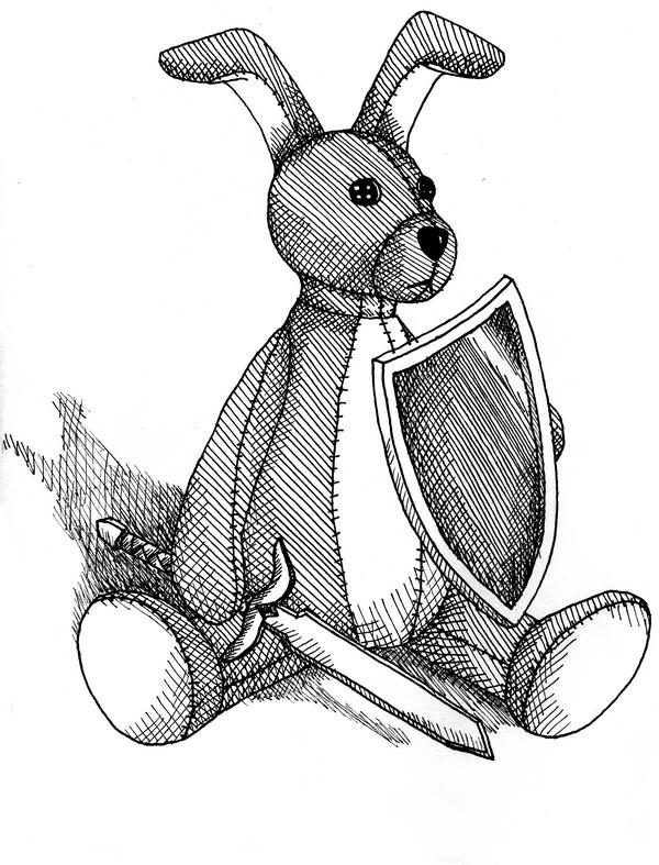 Toby the rabbit by Andrea Farr